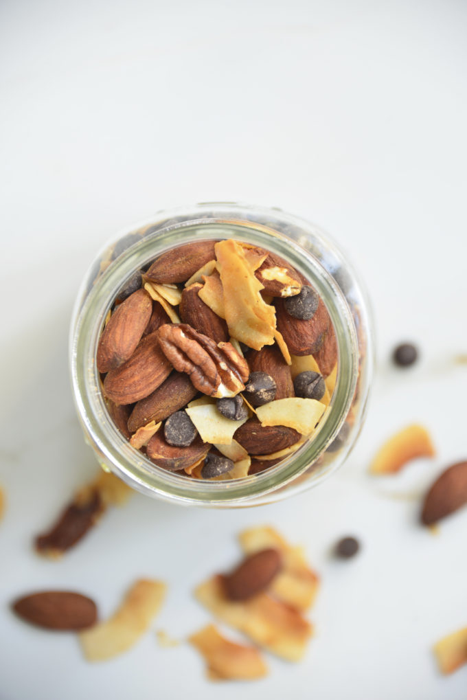 Keto Trail mix is a great low carb breakfast if you're tired of eggs. It's also super quick and easy to make! Eat this low carb trail mix alone or with full fat greek yogurt and a few drops of vanilla and stevia extract. Your taste buds will thank you later.