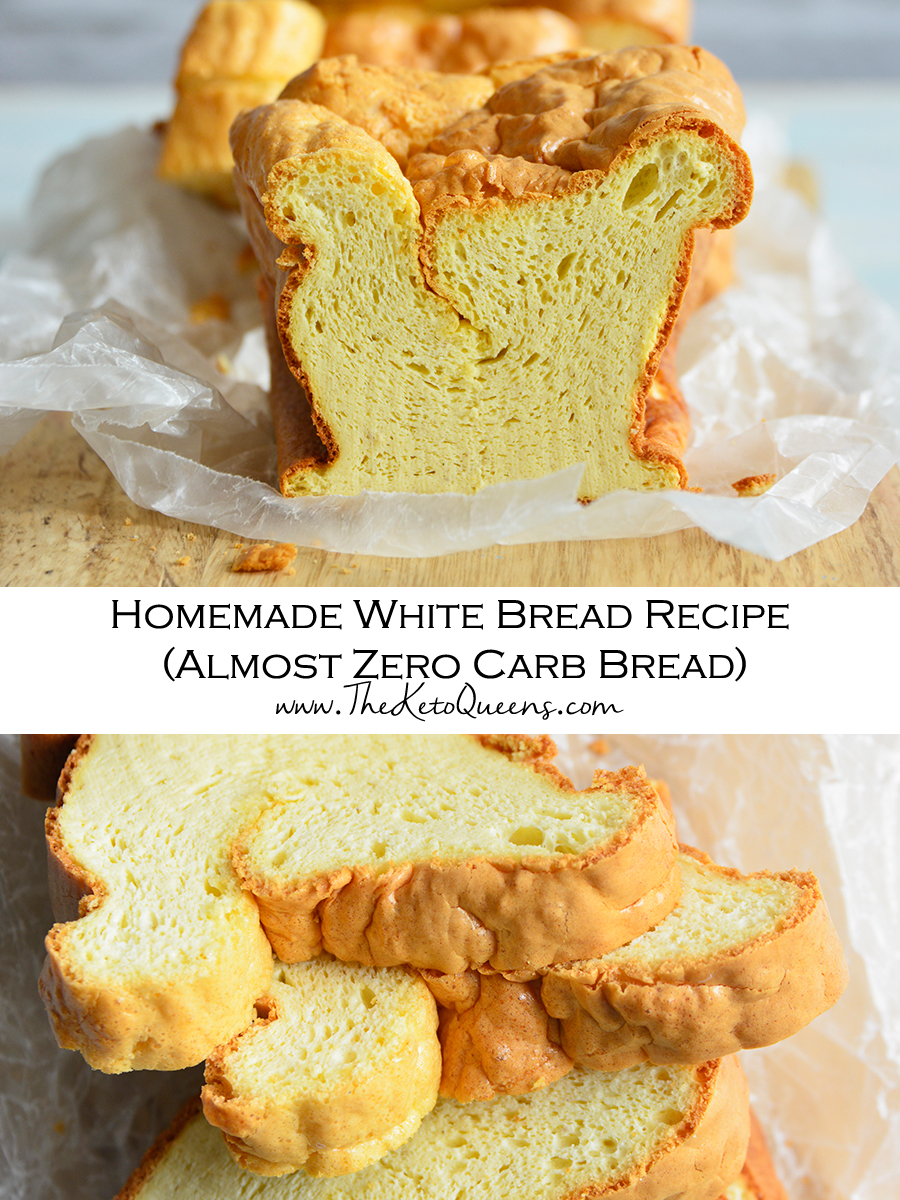 You can have bread on keto!!! This is the BEST fluffy almost zero carb homemade white bread recipe! It is low carb, keto, gluten free, and so easy to make - no kneading or rise time!