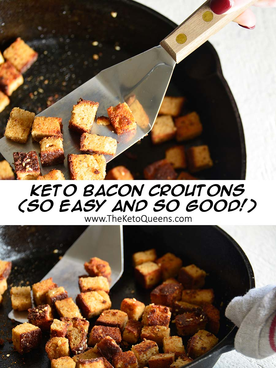 Bacon croutons instantly make any salad 1000% times better! Our croutons are super low in carbs and taste delicious. Making them ideal for a keto diet. They're gluten-free too!