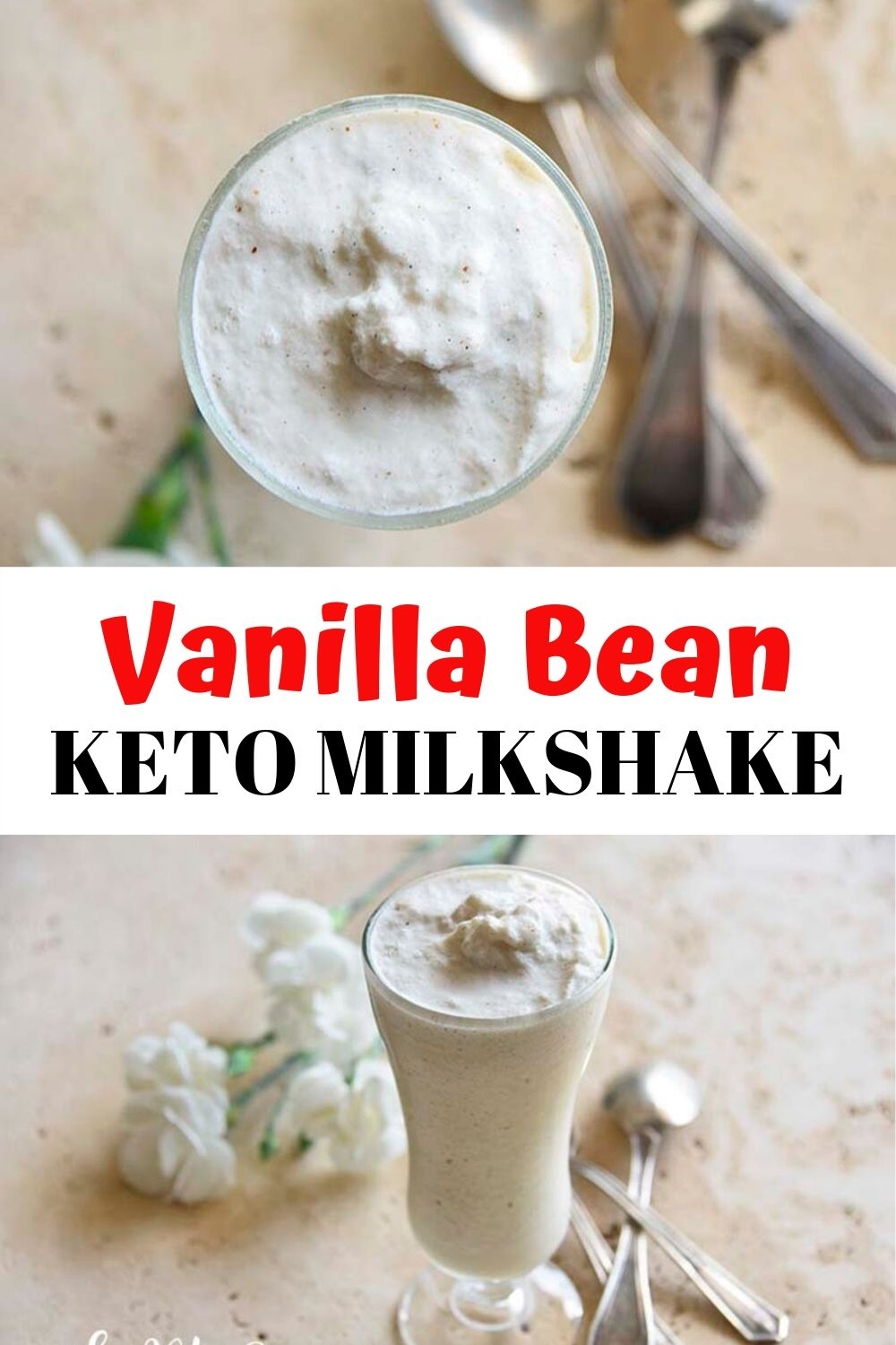 Vanilla Bean Keto Milkshake. Think you have to give up milkshakes for keto? Think again! Our homemade keto milkshake is rich in healthy fats and low in carbs. Those pretty little flecks of vanilla bean in this low carb milkshake tell you right away that you're going to get deep vanilla flavor! The toasted almonds are here to add a subtle hint of nutty base flavor without adding a lot of carbs.