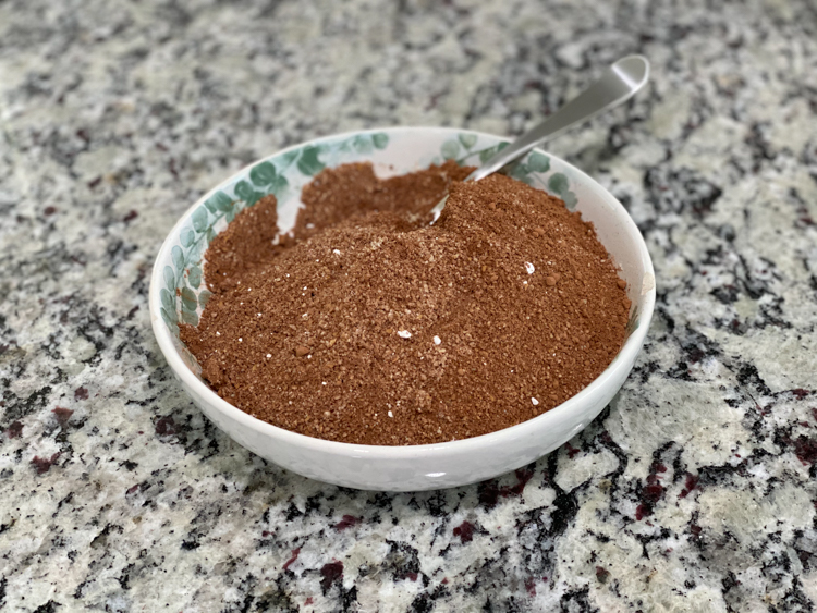 cocoa powder mixture in small bowl
