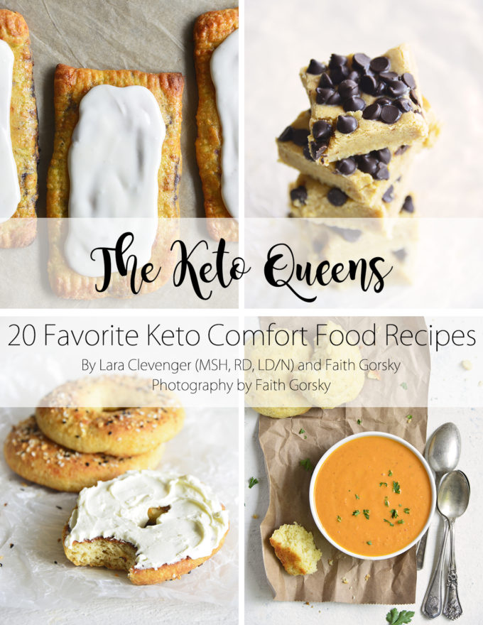 keto treats and keto comfort foods ebook cover