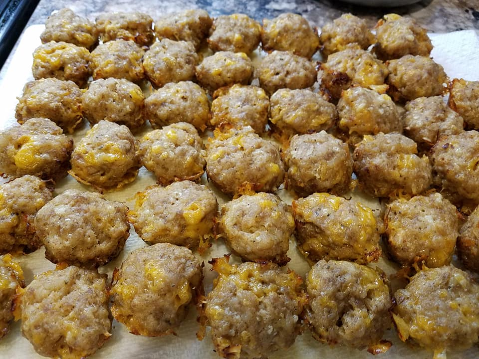 These are some really yummy keto friendly sausage balls!