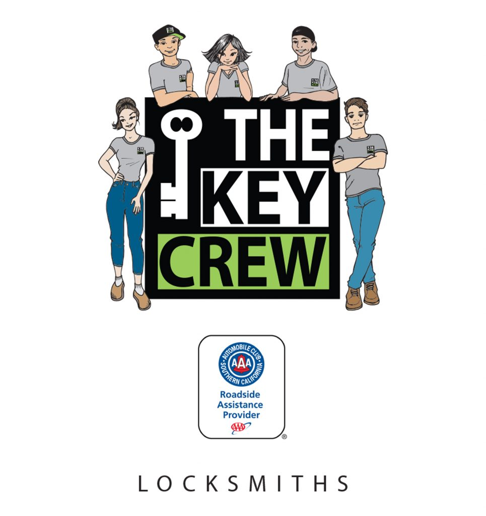 Illustration of the key crew staff with logo for