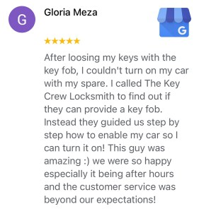 Car Key Replacement Review 1 for The Key Crew from Google My Business