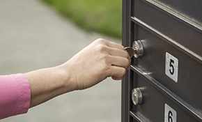mailbox lock opening replacement
