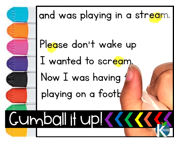 A unique gumballs strategy to help young readers, decode! not guess. Works well with any phonics, spelling or Word Study program. Students even apply this strategy in their own Writing.