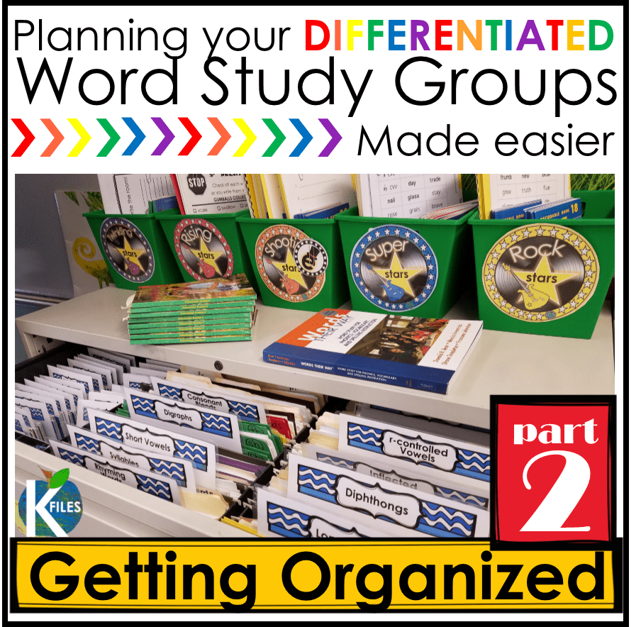 Words Their Way-- OUR Way PART 2: Getting Organized