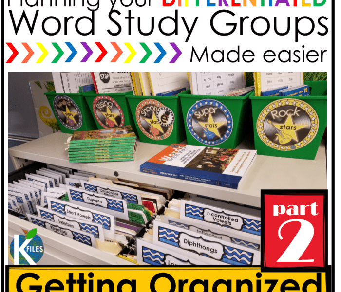 Words Their Way– OUR Way PART 2: Getting Organized