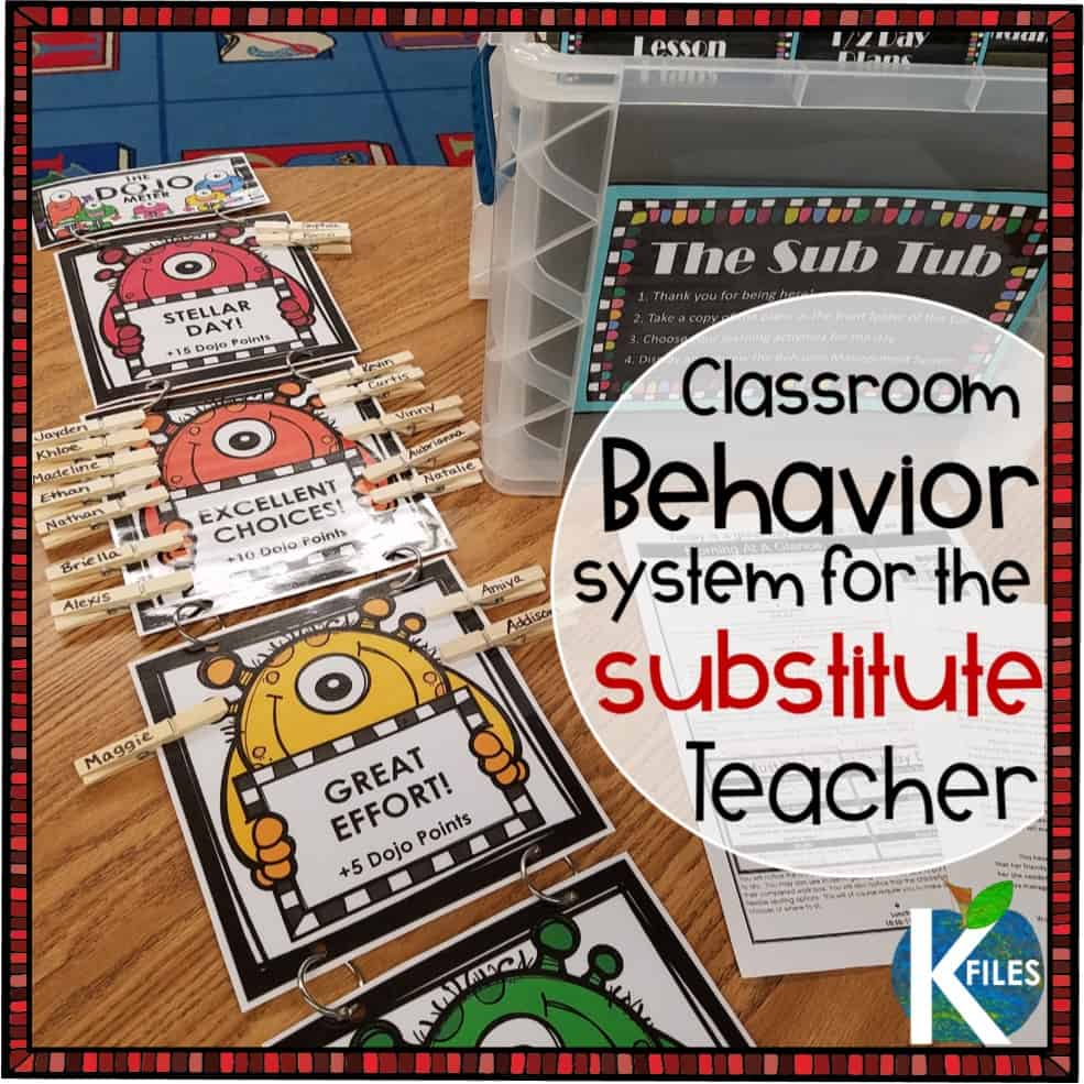 If you use Class Dojo as your behavior management system, you probably wonder how to utilize the behavior point system when you are out of the classroom. This Class Dojo bulletin board and behavior clip chart is the solution. Looking for substitute teacher ideas to better your behavior management in the classroom? These Class Dojo ideas for a behavior chart work! These are not Class Dojo decorations or Class Dojo rewards ... but effective ways to manage behaviors in your absence #classdojo