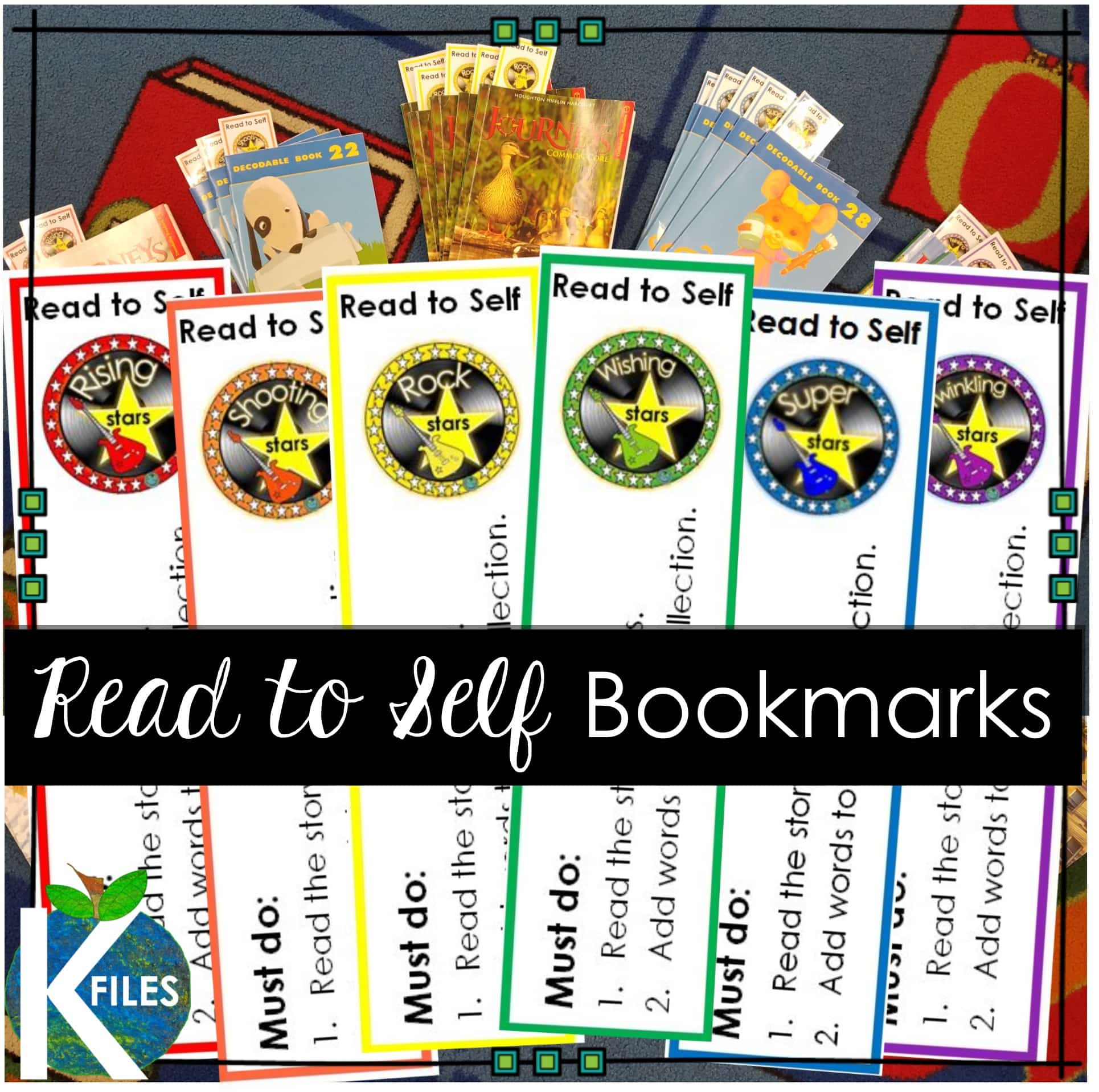 "Read to Self Bookmarks: In addition to my students' Word Work during our Daily 5, one of their ""Must Do"" items is to Read to Self. During this time the children are assigned a story to read from one of our decodable readers that reinforces their Word Study Goal. This is a great classroom management tool that will support your implementation of Words Their Way in your phonics and spelling teaching program."