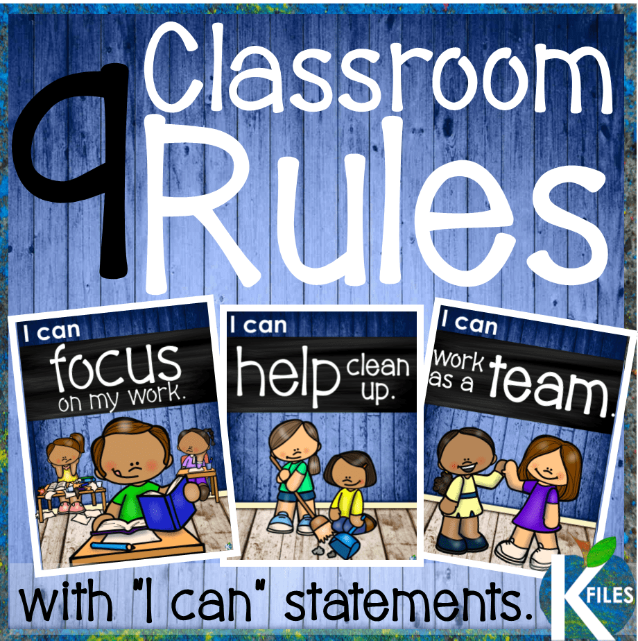 "This set of 9 classroom rules posters with ""I can"" statements will help foster a positive learning environment for your classroom when going Back to School. Included: I can be a good friend. I can keep my hands to myself. I can help clean up. I can raise my hand. I can be in control. I can listen. I can try my best. I can focus on my work. I can work as a team."