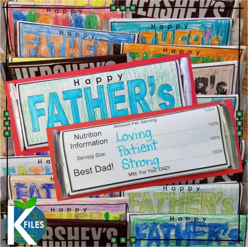 This Father's Day Candy Bar wapper is a quick and easy craft for your students to complete at the most busy time of the year! Simply write down the ingredients/adjectives, color, paste and that's a wrapper!