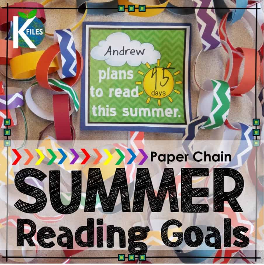 Summer Reading Goals & Paper Chains