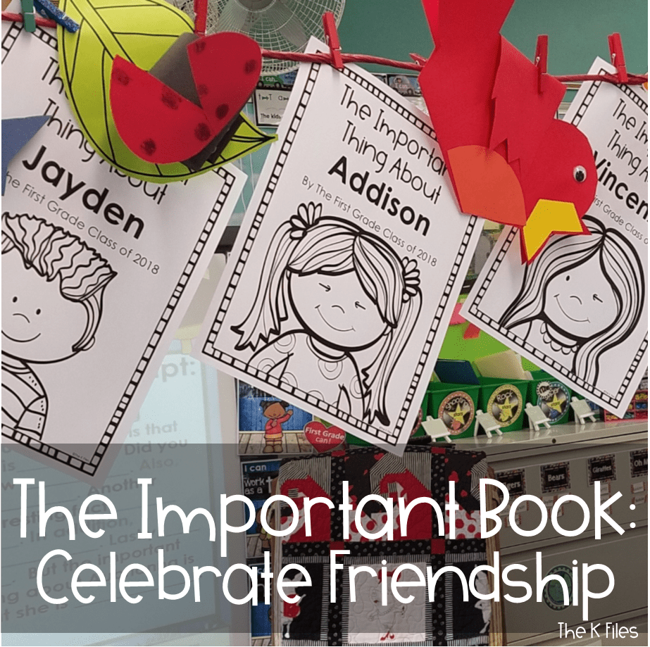 This class book can be used for Back to School and as an End of the Year memory book. It is a wonderful addition to any Getting To Know you activities as well as celebrating friendship as one of your end of the year activities. #firstgrade #kindergarten #secondgrade