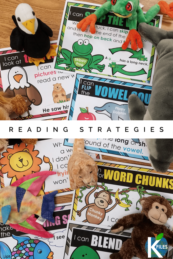 My students love our beanie baby Reading Strategy Friends! It's a fun way to motivate your students to use many phonics decoding strategies during your guided reading groups when you set them as reading goals. You will see improved fluency, phonemic awareness, and spelling skills. Students will be motivated to use these strategies during their phonics activities and Readers Workshop too! #phonics #firstgrade #kindergarten