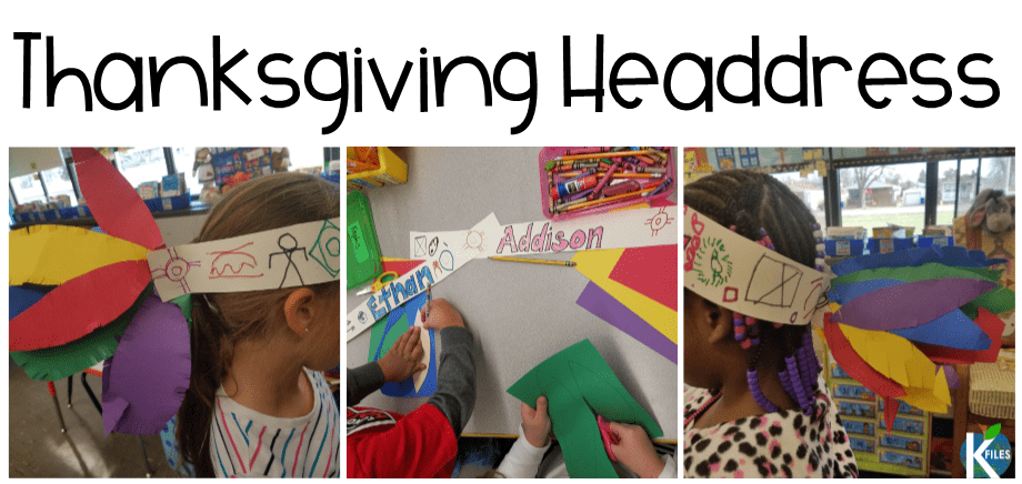 A headdress craft for your Thanksgiving activities in your classroom.