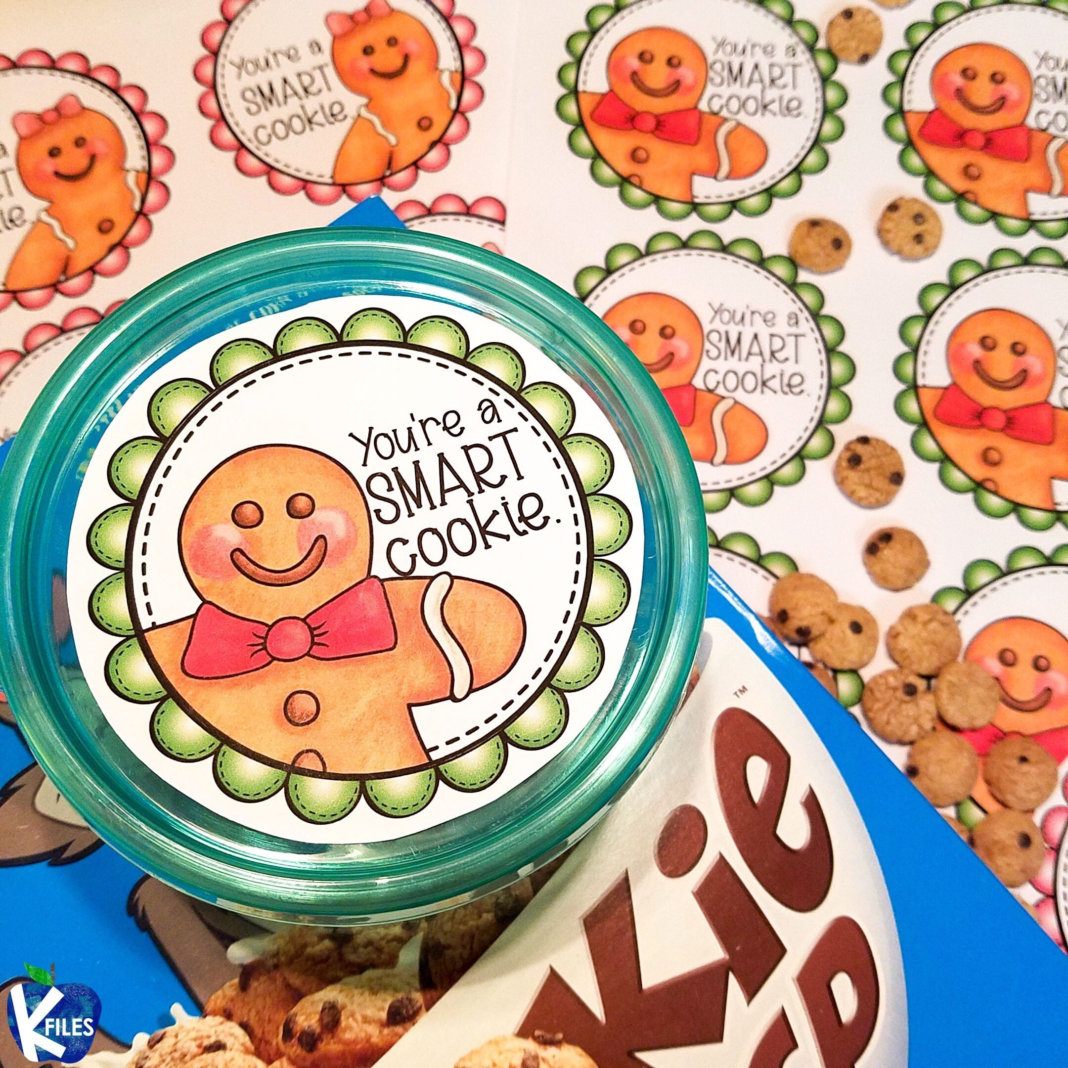 """Student Holiday Gift: """"You're A Smart Cookie"""" Jar"""