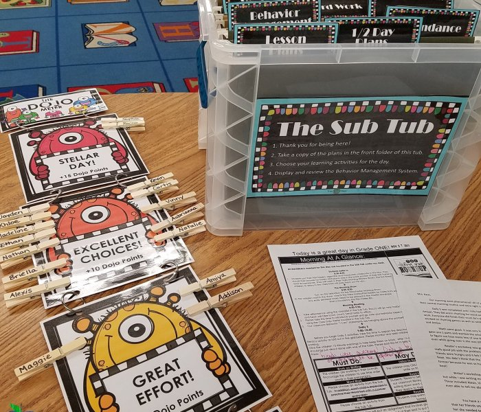 Substitute Teacher Behavior System using Class Dojo