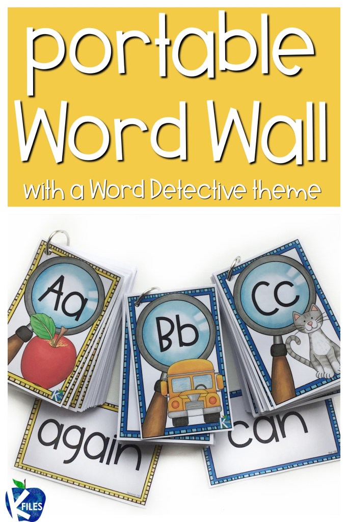 A Portable Word Wall for Word Detectives