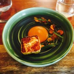 House-made haloumi, carrot, olive, tarragon, cider