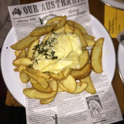 Chips with Melted Brie