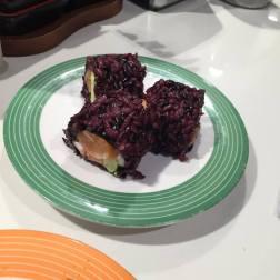 Salmon and Avocado (Black Rice)
