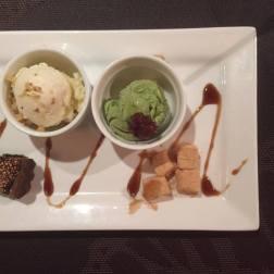 Coconut Icecream and Green Tea Icecream