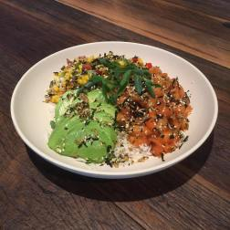 Salmon Poke Hawaiian Style Sushi Salad (2)