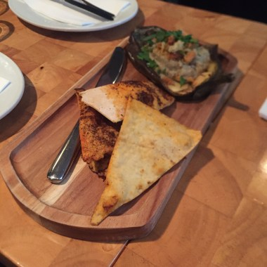 Eggplant and White Bean with Paprika Flatbread