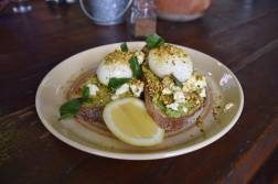 Smashed Avocado, Persian Fetta, Soft Boiled Eggs, Pistachio and Basil (2)