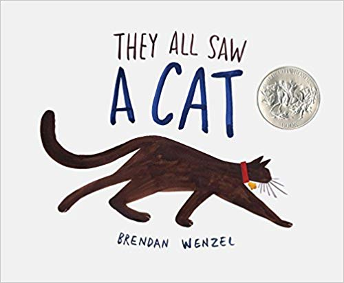 They All Saw a Cat - Featured on a book list of cat books for kids