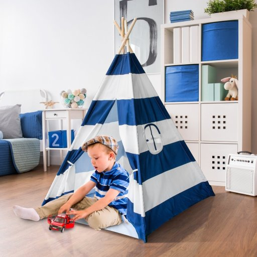 Sorbus Kids Foldable Teepee Play Tent Playhouse Classic Indian Style Play Tent and Carry Bag, Walls with Door, Window and Floor