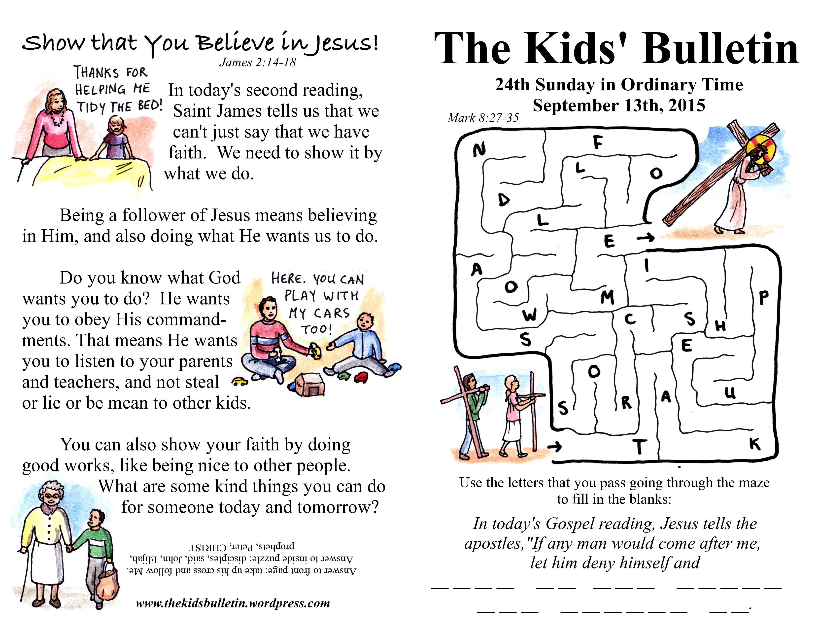 The Kids Bulletin 24th Sunday