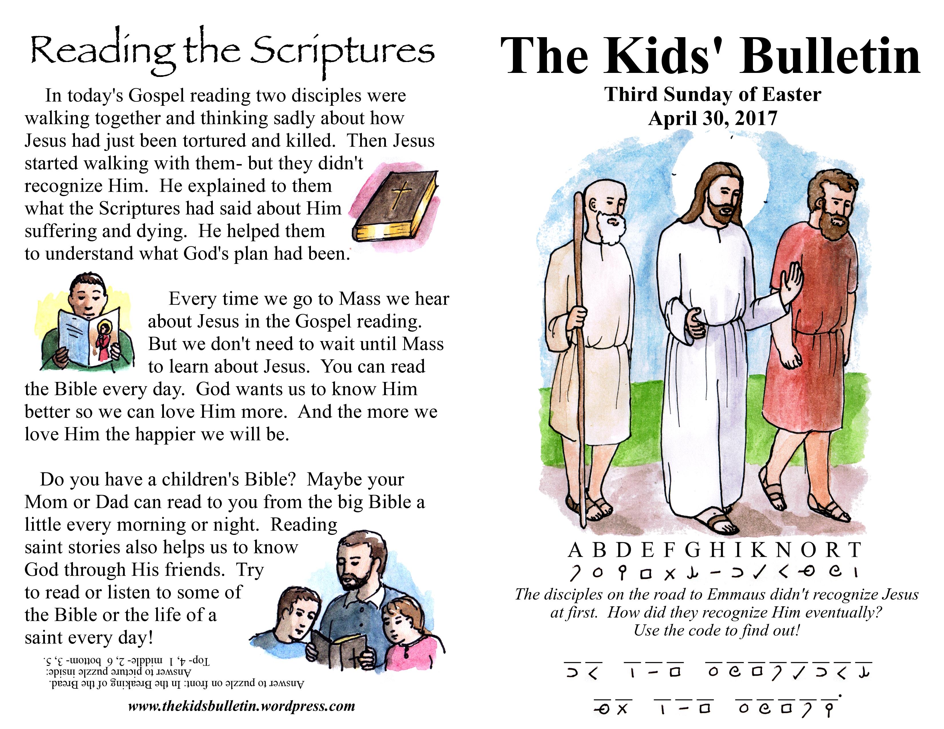 The Kids Bulletin Easter 3