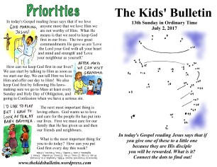 The Kids' Bulletin 13th Sunday