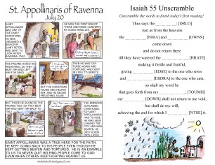 The Kids' Bulletin 15th Sunday inside