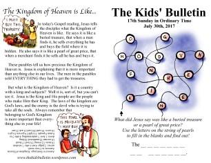 The Kids' Bulletin 17th Sunday