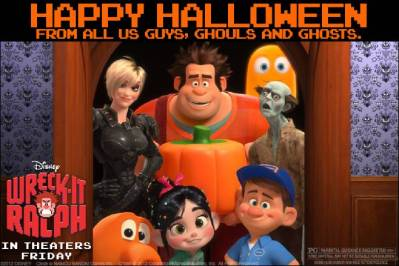 Happy Halloween From Wreck-It Ralph and TKDI!