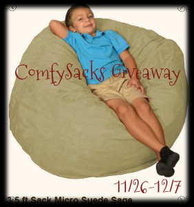 Comfy Sacks Lounger {Giant Bean Bag Chair Sweepstakes}