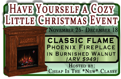 It's Going To Be A Cozy Christmas! {Fireplace Sweepstakes}
