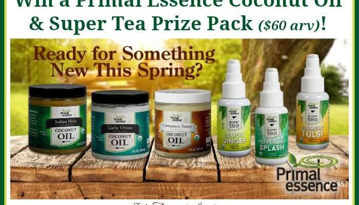 Primal Essence Coconut Oil & Super Tea Prize Pack Giveaway