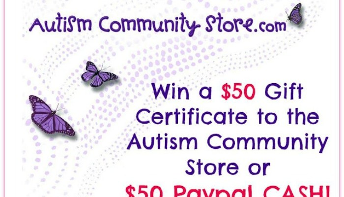 $50 Gift Certificate to the Autism Community Store or $50 PayPal Cash Giveaway