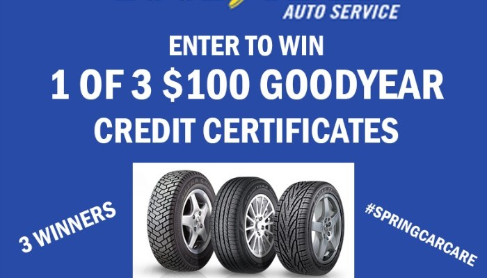 "Goodyear ""Spring Car Care"" Event Giveaway"