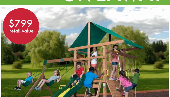 Mount McKinley Wooden Swing Set From Backyard Discovery!
