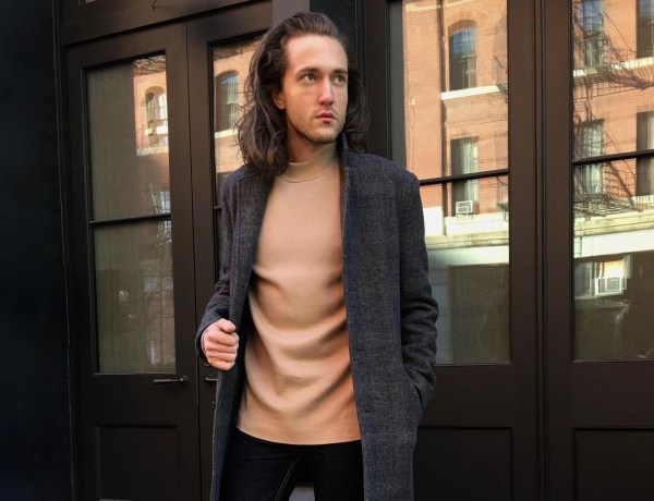 Winter Grays & Nudes - Men's Fashion - Style - Topman / Topshop - Stone Turtle Neck Split Hem Slim Fit Sweater - Clarks Desert Boot from Clarks Originals Collection - Shoe Shopping - Beeswax & Leather - TheKillerLook.com - The Killer Look