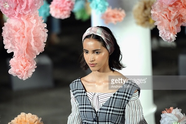 Steven Killian Design - Production Design - Designs - Art Department - Vintage Acapulco - Women's Fashion - Veronica Beard - NYFW Spring Summer '18 Show - New York Fashion Week - Paper Flowers - Paper Pom Poms - TheKillerLook.com - The Killer Look