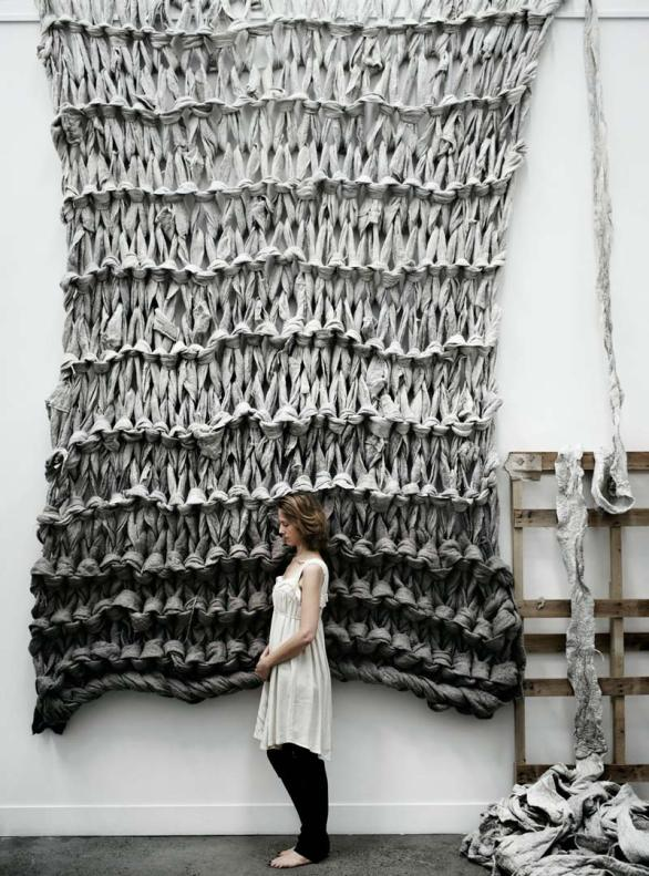 Oversized wall hanging by Jacqui Fink