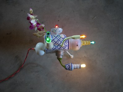 Send Mom to the Moon ceramic and light works by Torlarp Larpjaroensook at CMDW14