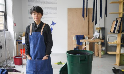 Sayaka Toyama manages Buaisou Brooklyn - first from her home and now in the Bushwick studio loft space.